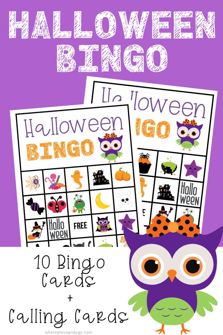 Halloween Bingo Printable Free for Fun Class Parties