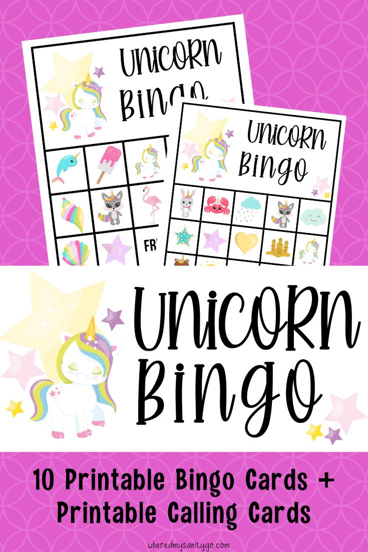 Free Unicorn Bingo Printable Game for Kids' Parties
