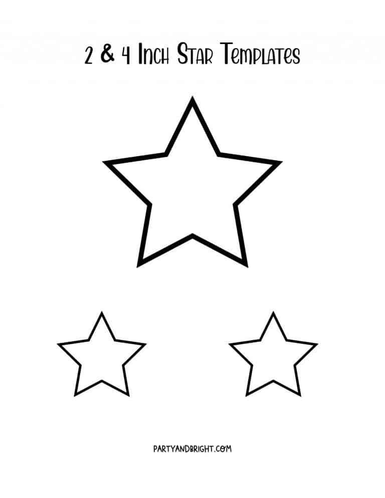 Star Template Printables: Large & Small Star Stencils