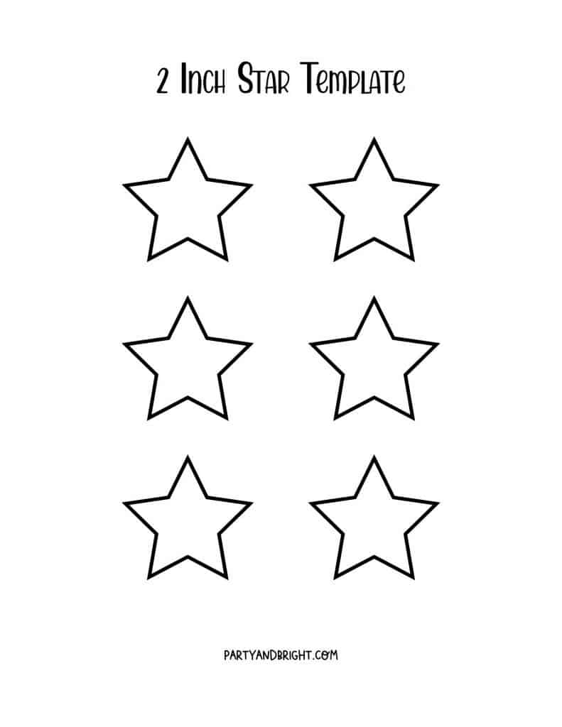 2 inch star template printable