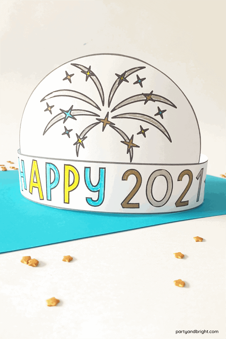 2021 New Year's Hat DIY—4 Printable Templates!