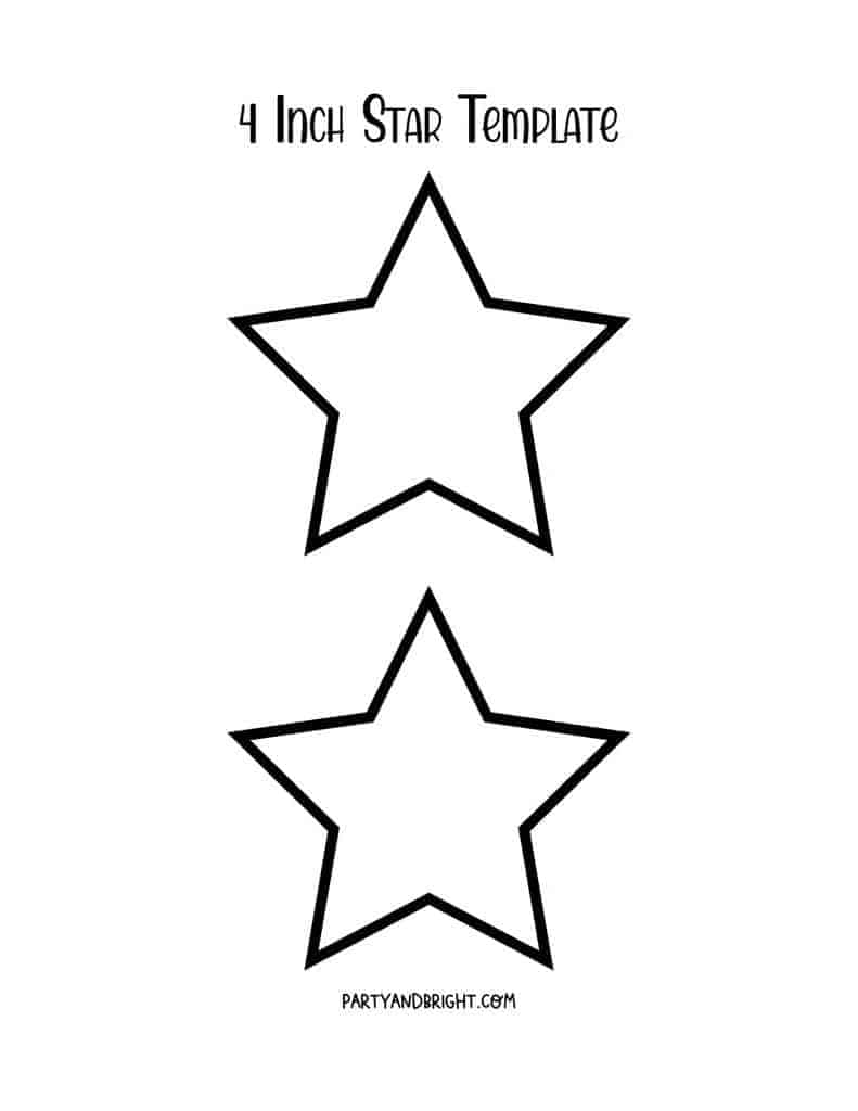 4 inch star template printable