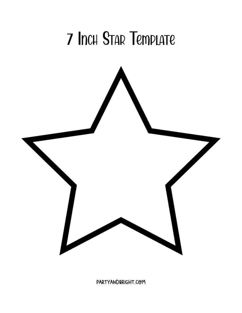 7 inch star template printable
