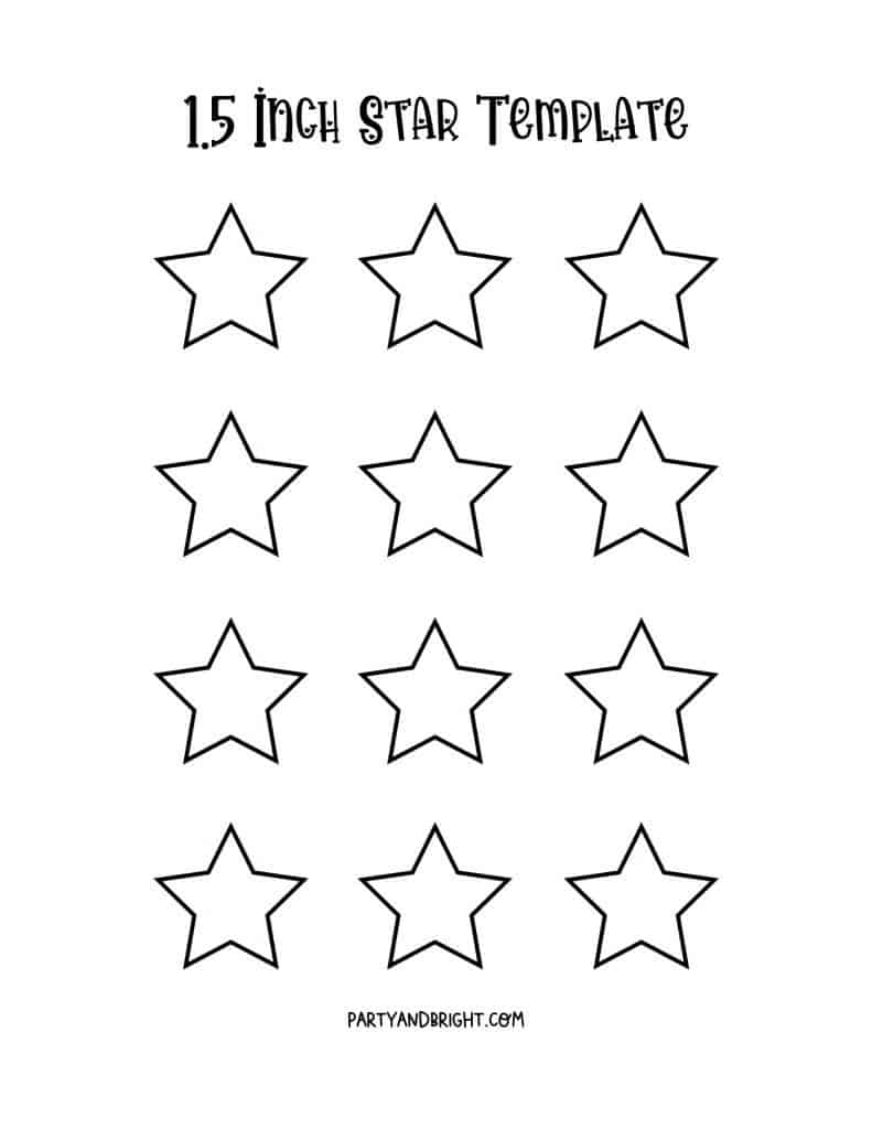 multiple 1.5 inch star templates printable