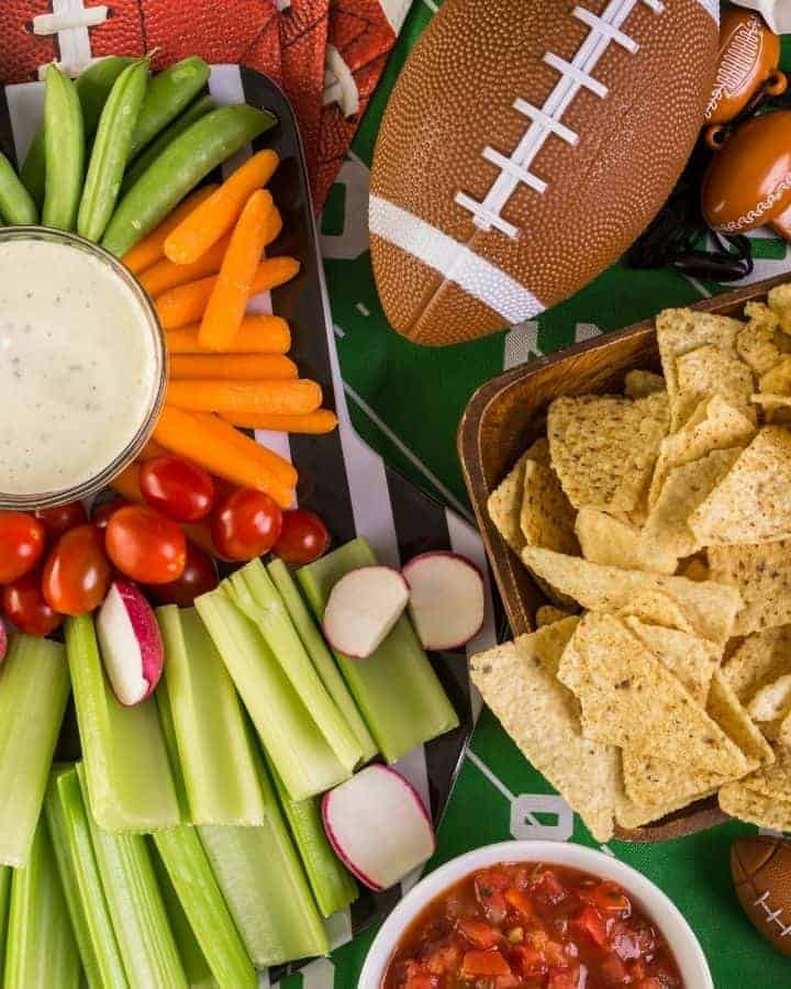 tailgate party foods with football