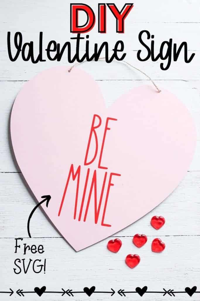 diy valentine sign that is rae dunn inspired