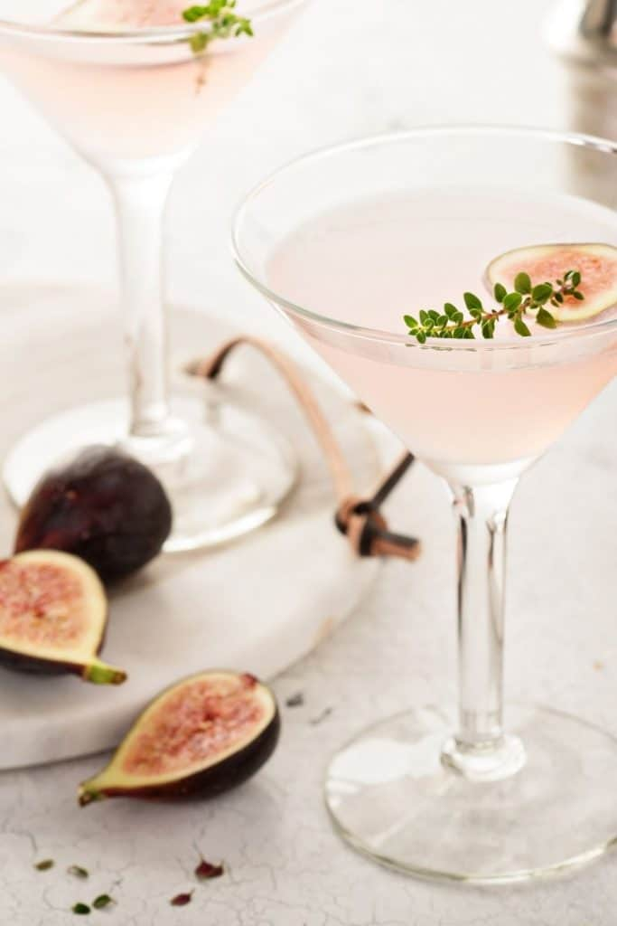 pink fig, thyme and honey martini