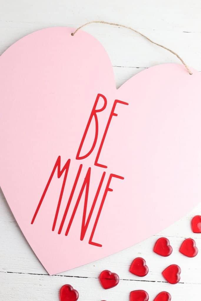 rae dunn be mine heart diy