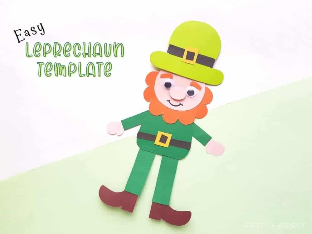 cute leprechaun made out of paper with text easy leprechaun template
