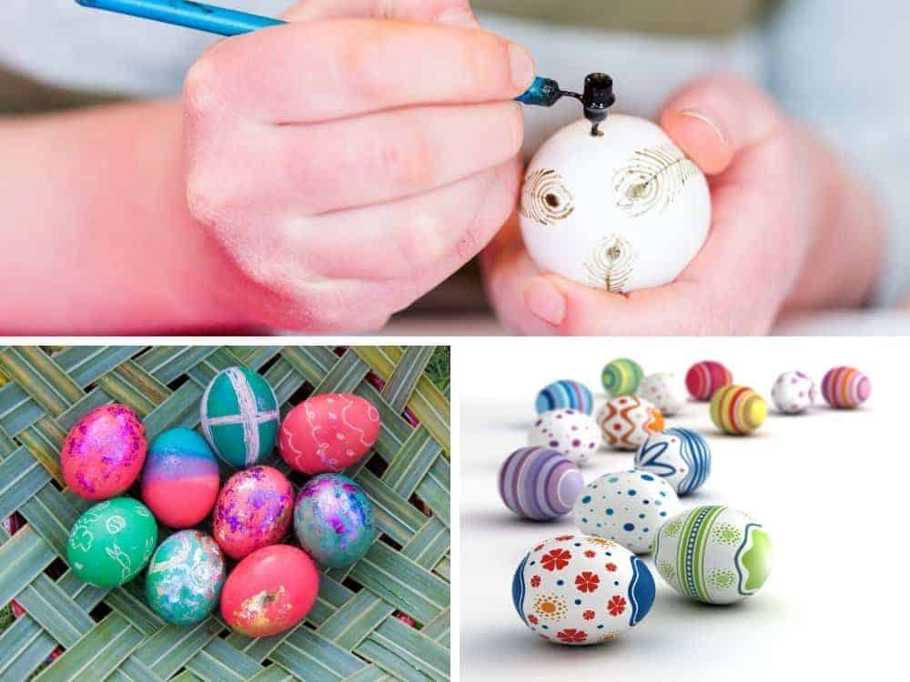 different ways to decorate easter eggs in collage