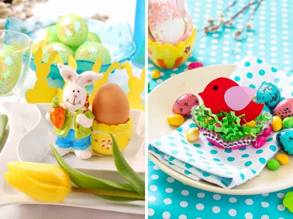 vibrant easter table decor for spring tea party