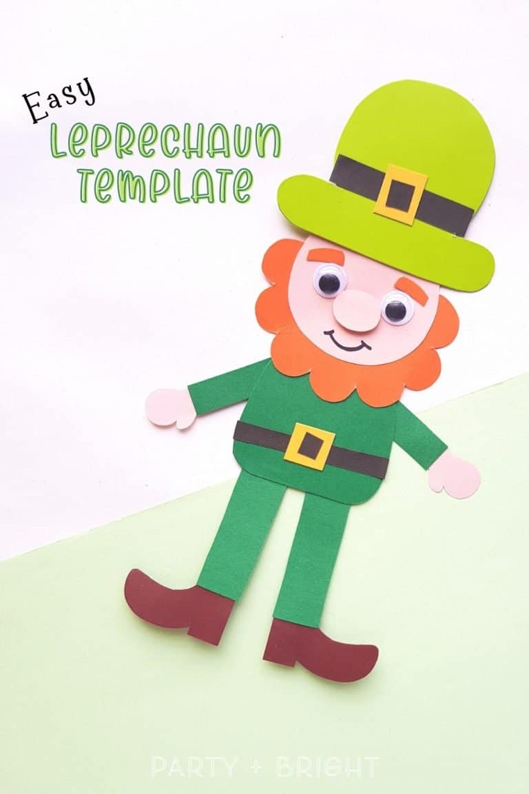 Free Printable Leprechaun Template + Easy St. Patrick's Day Paper Craft