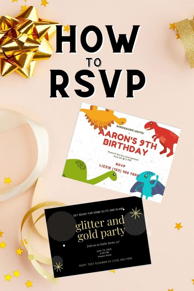 How to RSVP to a Birthday Party Invitation/Event (Sample Wording Included for YES/NO/Maybe)