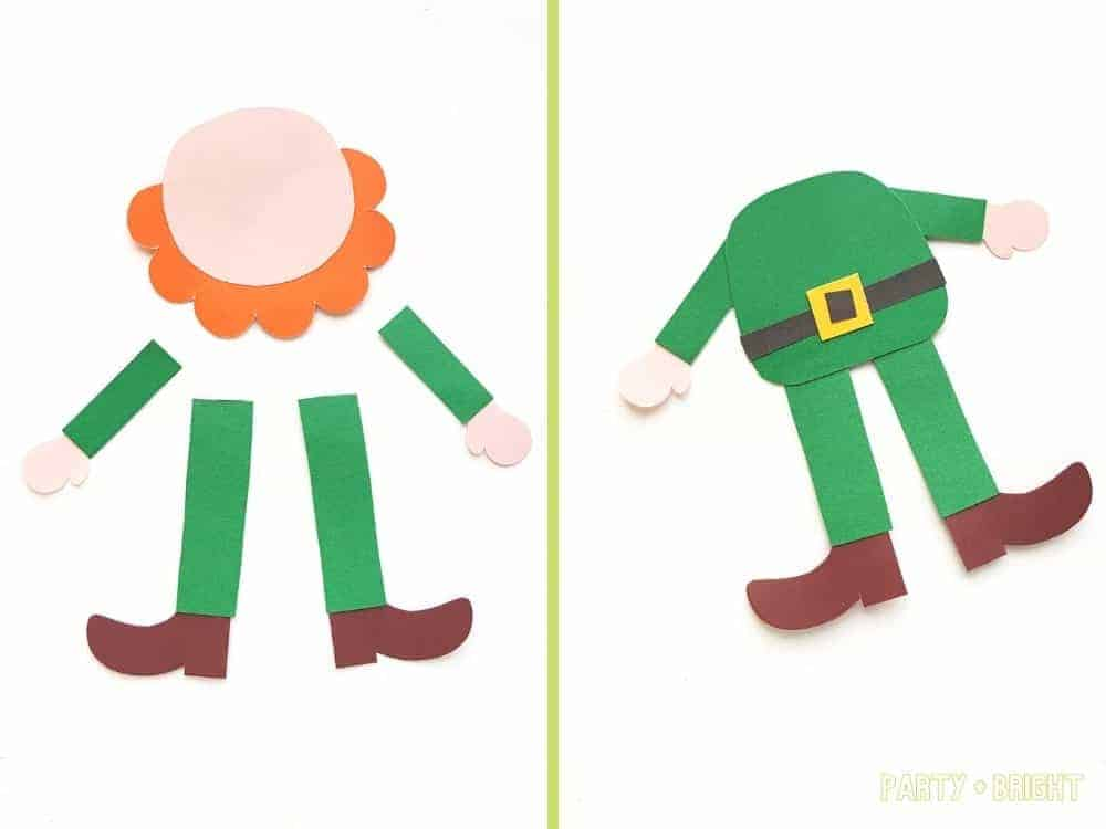 steps to make a leprechaun from a template on paper