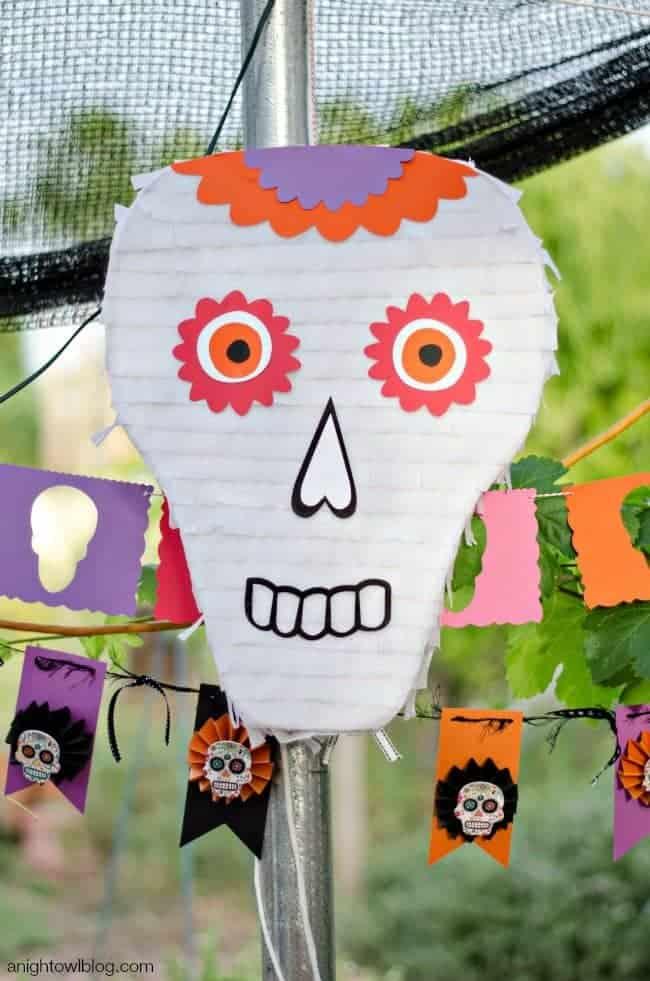Day of the Dead Skull Pinata