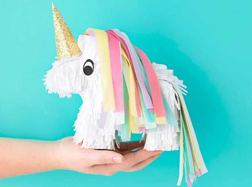 DIY Unicorn Pinata on hand