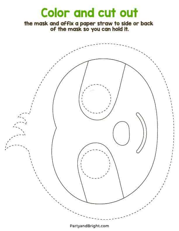 Sloth Mask outline template