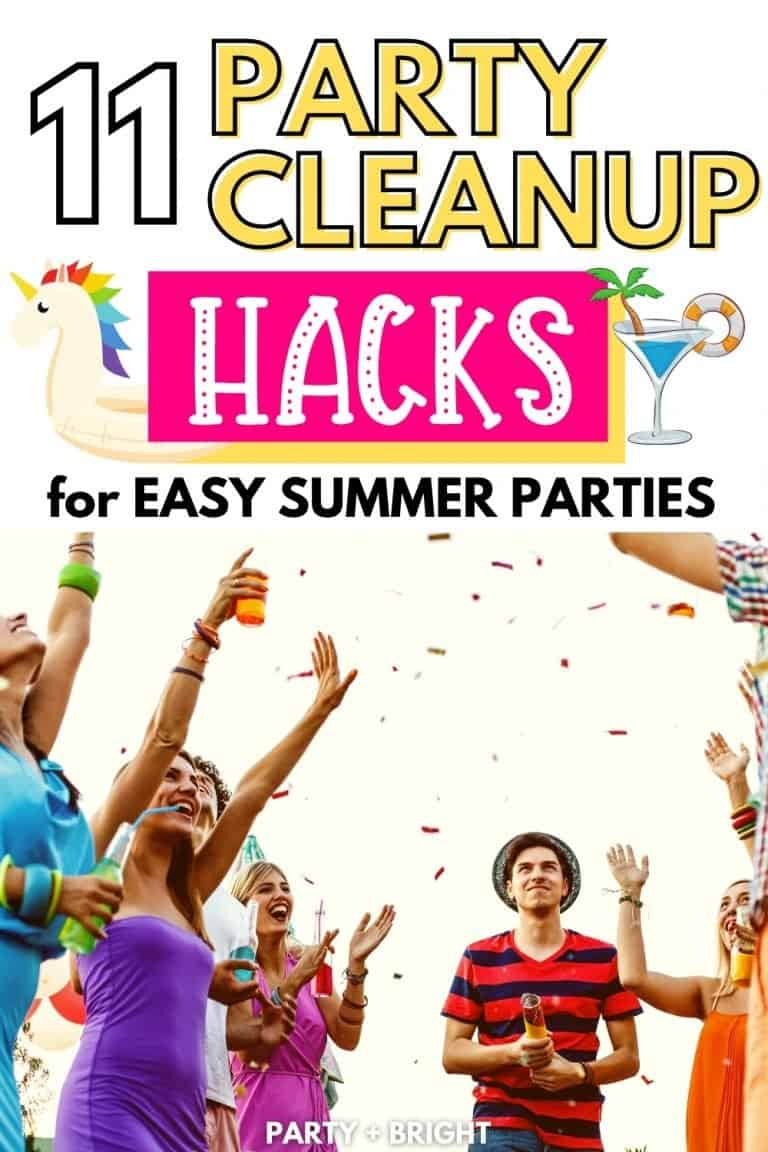11 Genius Hacks That Make Summer Party Cleanup Easier