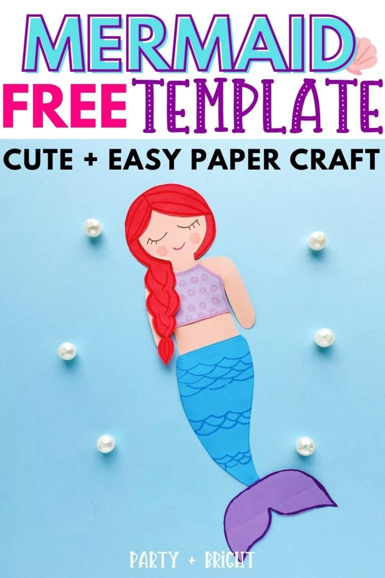 Free Mermaid Template to Print+ Easy Paper Craft