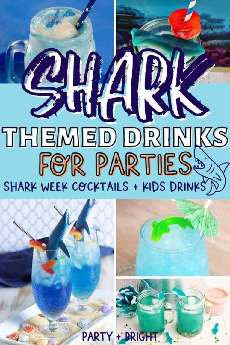 The Best Shark Week Themed Drinks to Keep Your Shark Party Guests Happy