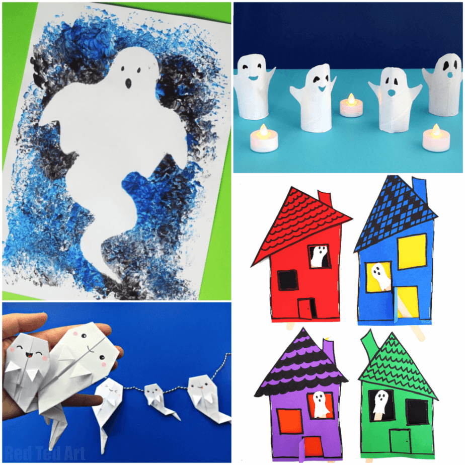 ghost crafts square collage