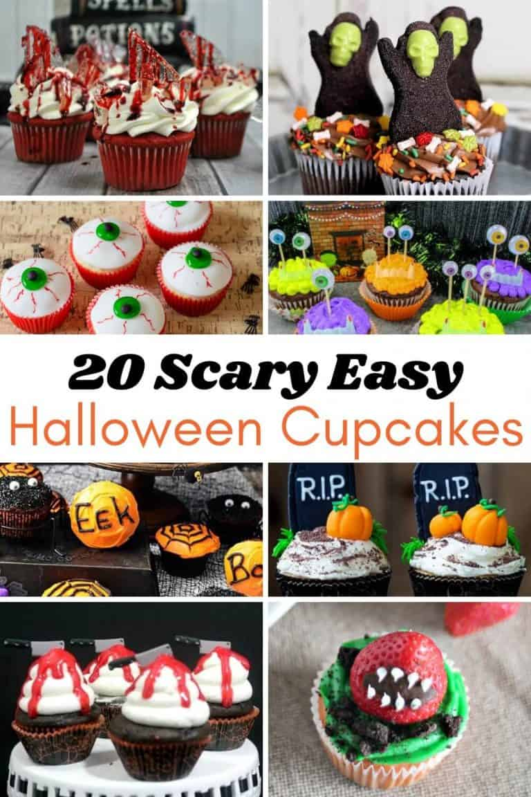 20 Scary Easy Decorated Halloween Cupcake Ideas