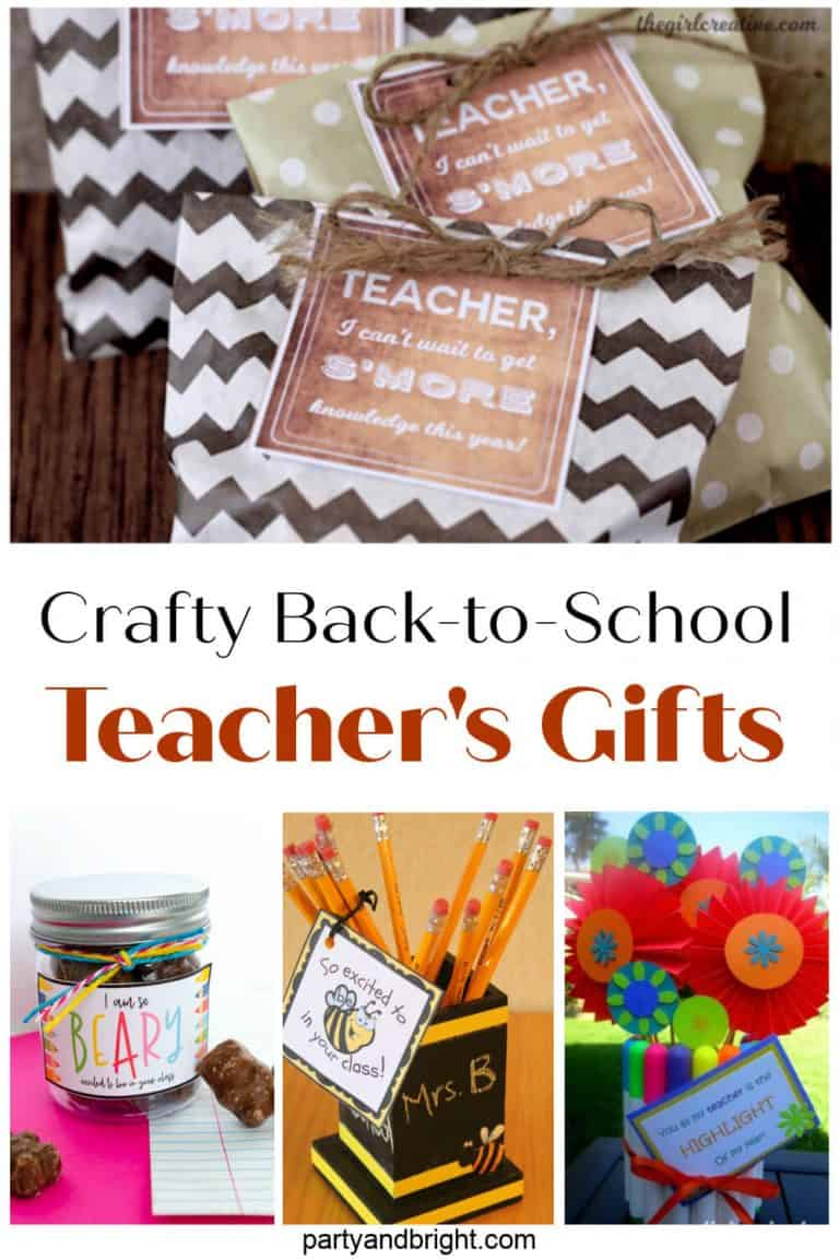 Crafty Back to School Teacher Gifts HTML Links and Descriptions