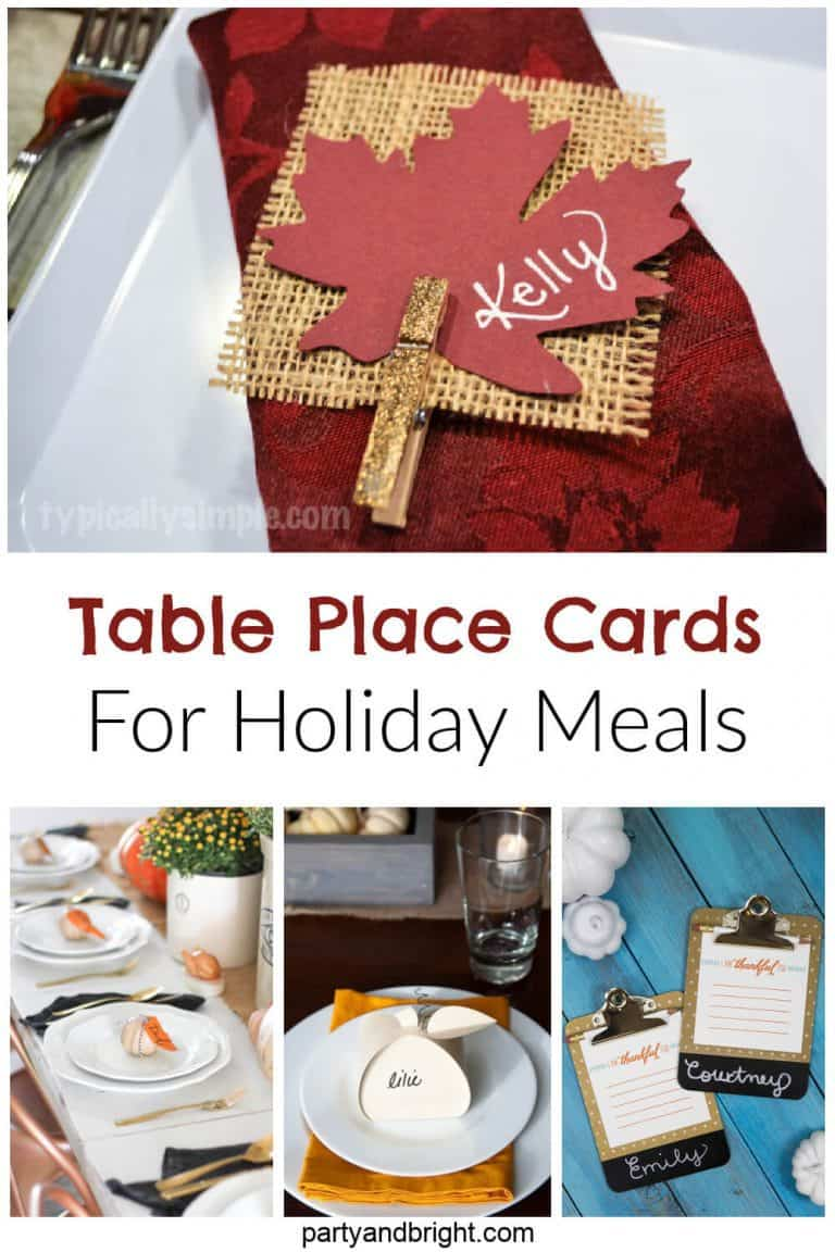 Holiday Table DIY Place Cards To Wow Your Guests